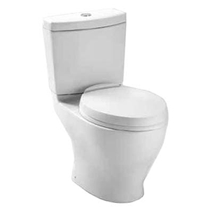 Cotton White 1.6gpf /0.9gpf Dual Flush Button 12> Rough In Elongated Toilet( Ct416#01 Bowl + St416m#01 Tank )