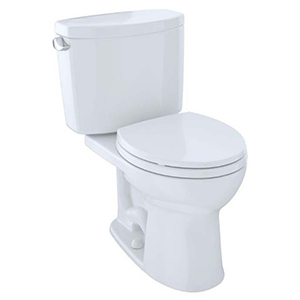 Drake® Ii Two-piece Round 1.28 GPF Universal Height Toilet With Cefiontect™, Cotton White - Cst453cefg#01