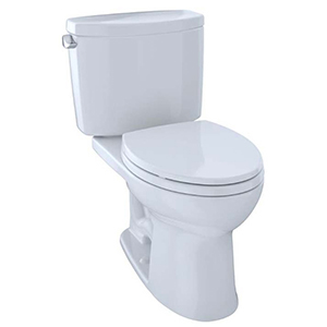 Drake® Ii Two-piece Elongated 1.28 GPF Universal Height Toilet With Cefiontect™, Cotton White - Cst454cefg#01