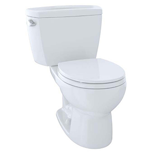 Eco Drake® Two-piece Round 1.28 GPF Toilet, Cotton White - Cst743e#01