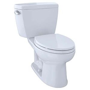 Eco Drake® Two-piece Elongated 1.28 GPF ADA Compliant Toilet, Cotton White - Cst744el#01