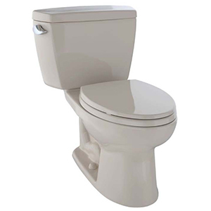 Eco Drake® Two-piece Elongated 1.28 GPF ADA Compliant Toilet, Bone - Cst744el#03