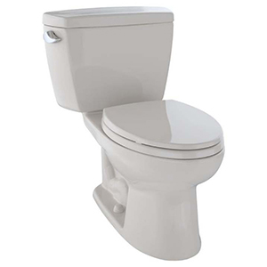 Eco Drake® Two-piece Elongated 1.28 GPF ADA Compliant Toilet, Sedona Beige - Cst744el#12