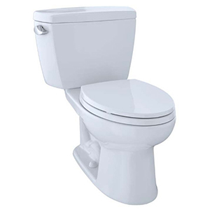 Drake® Two-piece Elongated 1.6 GPF Universal Height Toilet For 10 Inch Rough-in, Cotton White - Cst744sf.10#01
