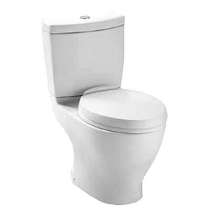 "17-3/8"" H, 12"" Rough-in, 1.6/0.9 GPF, Cotton White, Vitreous China, Floor Mount, Elongated Front, Bowl For Aquia Cst412mf 2-piece Close Coupled Toilet"