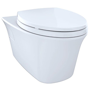 1.6/0.9 GPF, Cotton White, Vitreous China, Wall Mount, Elongated Front, Bowl With Cefiontect Ceramic Glaze For Maris Maris Dual Flush Toilet