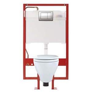 Aquia® Wall-hung Elongated Toilet And Duofit® In-wall 0.9 And 1.6 GPF Tank System Pex Supply Line