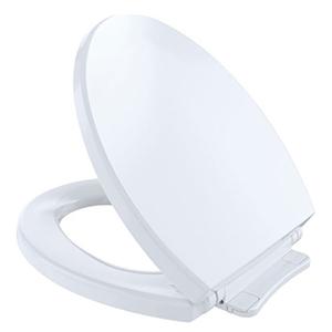 """Cotton, Closed Front, Round, 14"""" X 16-1/2"""", Cotton White, Polypropylene, Toilet Seat"""