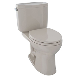 """17-1/4"""" X 7-5/8"""", 12"""" Rough-in, 1.28 GPF, Chrome Plated Trip Lever, Bone, Vitreous China, High Profile, Close Coupled, Tank For Drake Ii Cst454cef(r)(g) 2-piece High Efficiency Toilet"""