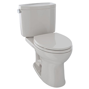 "17-1/4"" X 7-5/8"", 12"" Rough-in, 1.28 GPF, Chrome Plated Trip Lever, Sedona Beige, Vitreous China, High Profile, Close Coupled, Tank For Drake Ii Cst454cef(r)(g) 2-piece High Efficiency Toilet"