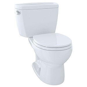"""19-7/8"""" X 7-1/8"""", 12"""" Rough-in, 1.28 GPF, Chrome Plated Right Hand Trip Lever, Cotton White, Vitreous China, High Profile, Close Coupled, Tank For Eco Drake Cst743e 2-piece High Performance Toilet"""