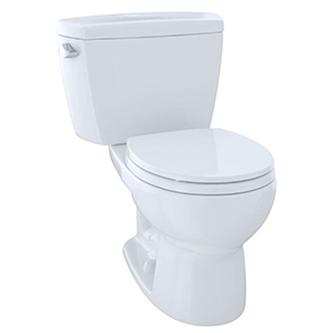 "19-7/8"" X 7-1/8"", 12"" Rough-in, 1.6 GPF, Chrome Plated Left Hand Trip Lever, Cotton White, Vitreous China, High Profile, Close Coupled, Tank For Drake Cst743s 2-piece High Performance Toilet"