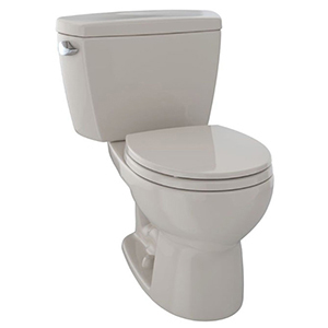 """19-7/8"""" X 7-1/8"""", 12"""" Rough-in, 1.6 GPF, Chrome Plated Left Hand Trip Lever, Bone, Vitreous China, High Profile, Close Coupled, Tank For Drake Cst743s 2-piece High Performance Toilet"""