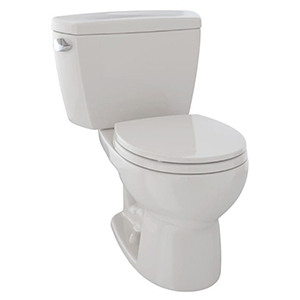 """19-7/8"""" X 7-1/8"""", 12"""" Rough-in, 1.6 GPF, Chrome Plated Left Hand Trip Lever, Sedona Beige, Vitreous China, High Profile, Close Coupled, Tank For Drake Cst743s 2-piece High Performance Toilet"""