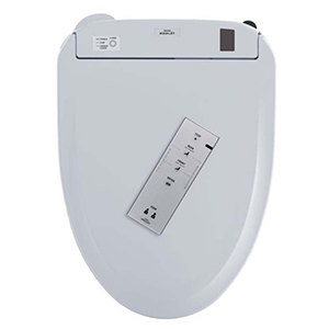 Cotton, Closed Front, Elongated, 389 Mm X 529 Mm, 120 VAC 60 Hz, 835 W, Cotton White, Solid Plastic, Heated, Slim, Dual Action Spray, Washlet