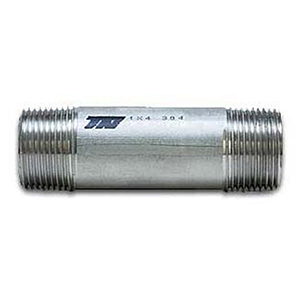 "1"" x 6"" MPT Schedule 40 Welded 304L Stainless Steel Nipple"