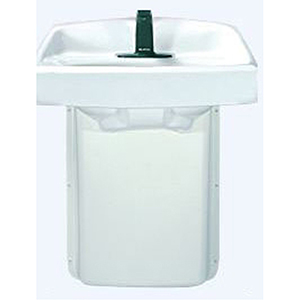China White/fine Haircell, PVC, 1-piece, Standard, Shield For Bathroom Sink