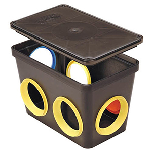 "14"" X 9"" X 9"", 6-hole, Distribution Box For Drain Sump"