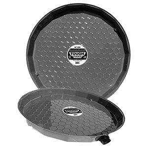 """Vizco-US 25"""" X 26.25"""" X 2.5"""", Water Heater Drain Pan With 1"""" PVC Fitting For Gas And Electric Tank 1954273"""