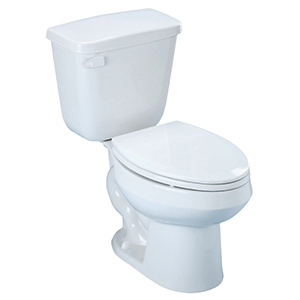 "29-3/4"" X 16-7/8"" X 30-7/16"", 10"" Rough-in, 15-1/4"" Bowl Height, 1.28 GPF, White, V-gloss High Gloss Vitreous China, Floor Mount, Elongated Front Bowl, High Efficiency, Toilet"
