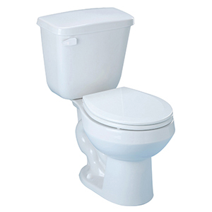 """27-3/4"""" X 16-7/8"""" X 30-7/16"""", 10"""" Rough-in, 15"""" Bowl Height, 1.28 GPF, White, V-gloss High Gloss Vitreous China, Floor Mount, Round Front Bowl, High Efficiency, Toilet"""