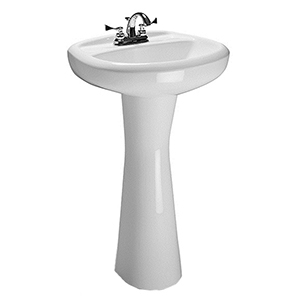 "27"" H, 8-7/8"" X 7"" Base, White, V-gloss High Gloss Vitreous China, Pedestal For Senna/vienna 3539/3545/3547 Bathroom Sink"
