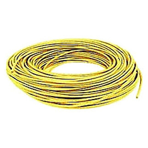 Tracer Wire 500' L, 14 Gauge, Yellow, Polyethylene Insulation