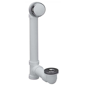 "1-1/2""-11-1/2 Npsm, Unc-2a, Schedule 40, White, Oil Rubbed Bronze, PVC, Lift And Turn, Bath Waste Half Kit"