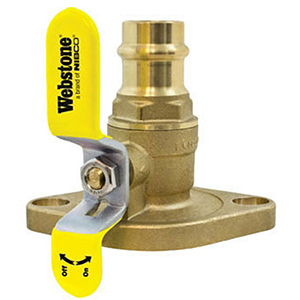 Brass Webstone 40414 Threaded Isolator Flange with Drain 1 Size