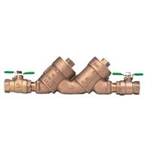 "1-1/2"" X 1-1/2"", FPT X FPT, 175 PSI, Lead-free, Cast Bronze, Angle, Top Access Double Check Valve Assembly, Backflow Preventer"