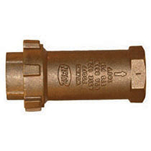 "1"" X 1"", FPT Union X FPT, 175 PSI, Lead-free, Cast Bronze, Horizontal/vertical, Dual Check, High Capacity, Backflow Preventer"