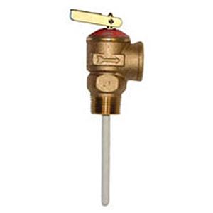 "Wilkins 3/4"" Cast Brass Temperature and Pressure Relief Valve 4224"
