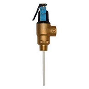 "Wilkins 3/4"" Cast Brass Temperature and Pressure Relief Valve 17369"