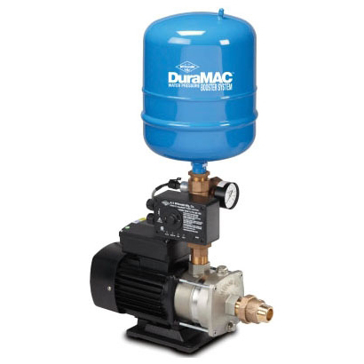 "1"" x 1"", FPT x MPT, 1/2 HP, 120 VAC 60 Hz, 5.5 A, 20 GPM, 35 PSI, Lead-Free, 301 Stainless Steel, Water Pressure Booster System"