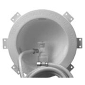 """Accor Technology ½"""" White High Impact Polystyrene Round Ice Maker Box With 84"""" White PVC Connector And Nut 855414"""