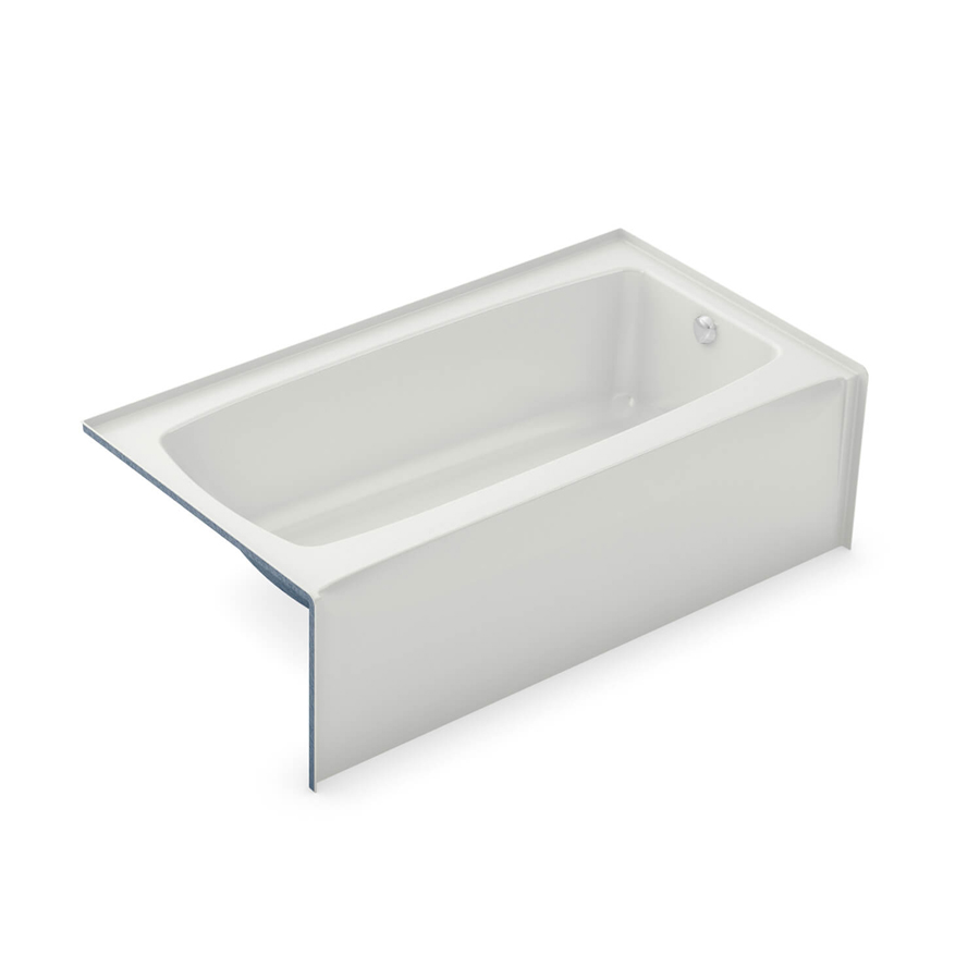 Left Hand Drain White Above Floor Rough Soaking Tub