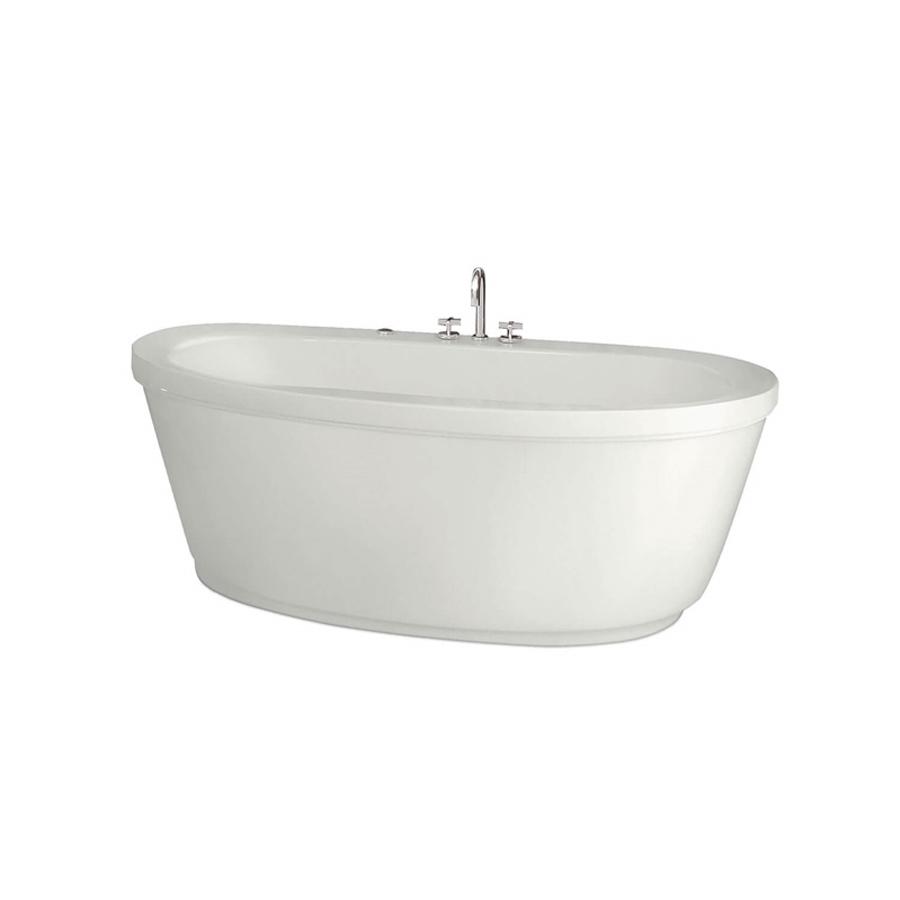 Center Drain White (001) Freestanding Soaking Tub