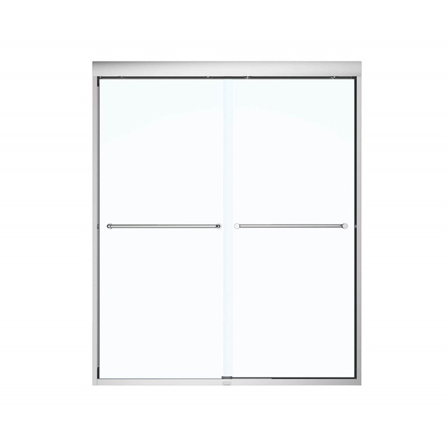 "Kameleon 6mm Sliding Shower Door Chrome/Clear For 55""- 59""x 71"""