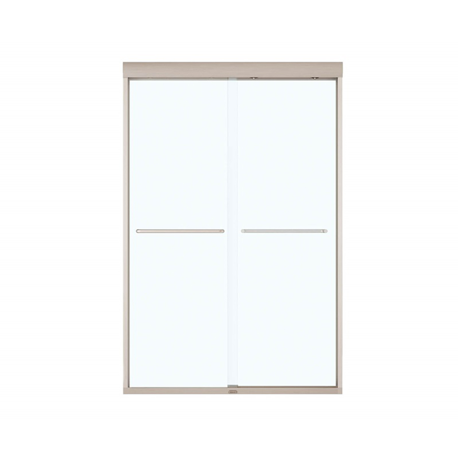 "Kameleon 8mm 43"" - 47"" X 71"" Speed Connect Clear Glass Finish Brushed Nickel Brushed Nickel"