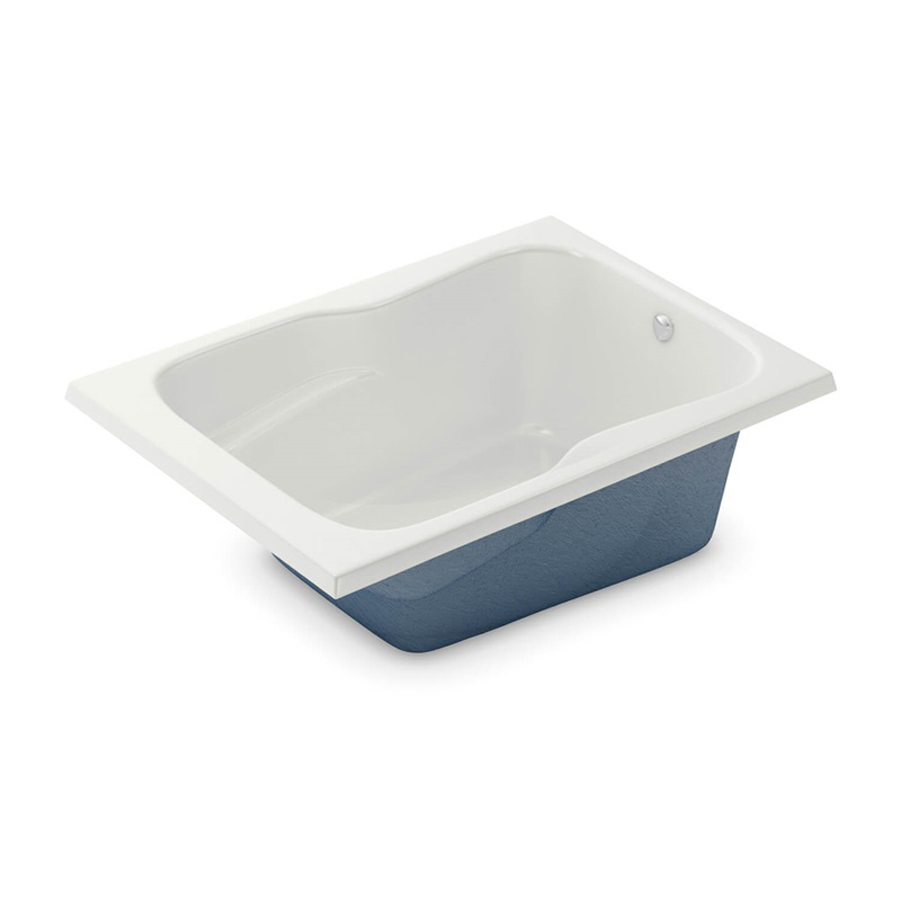 End Drain White Soaking Tub