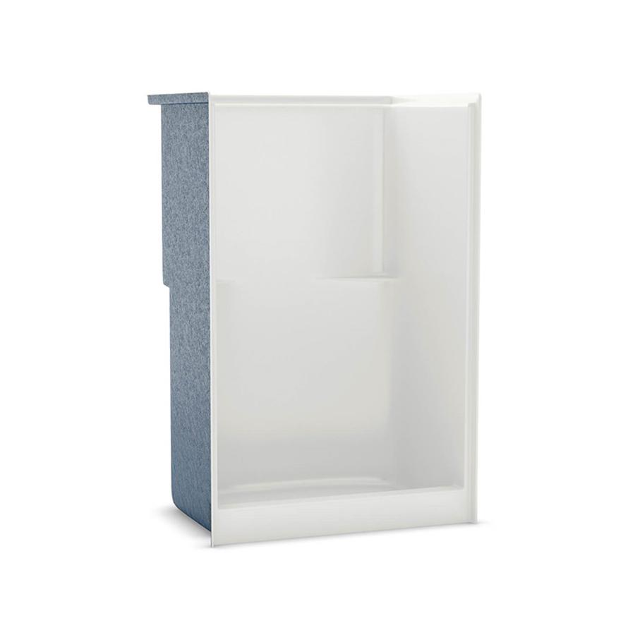 Center Drain White No Seat Shower