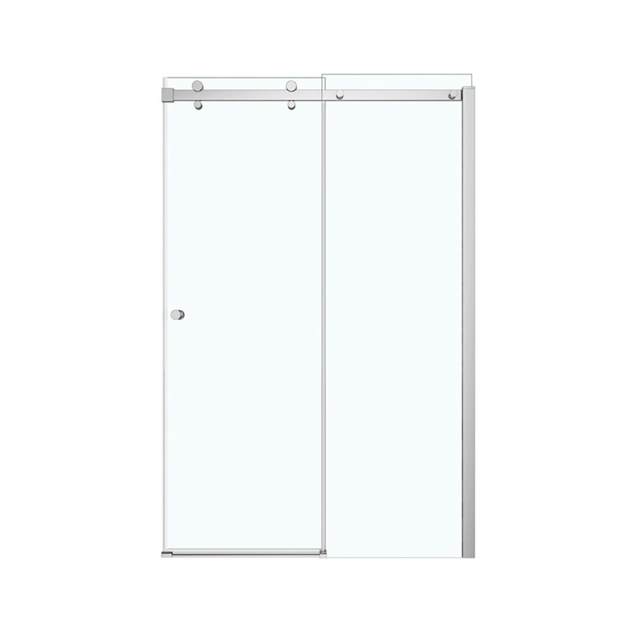 "Luminescence Sliding Shower Door, 44-1/2"" To 47"" X 18-3/8"" X 70-1/2"" To 72"", Chrome Plated, Clear Glass, Reversible, Luminescence Sliding, Shower Door"