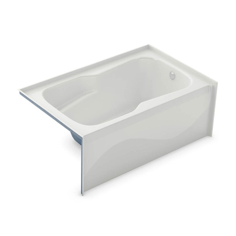Left Hand Drain White Soaking Tub
