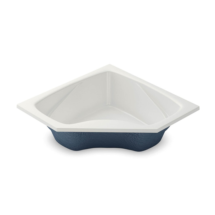 Center Drain White Soaking Tub