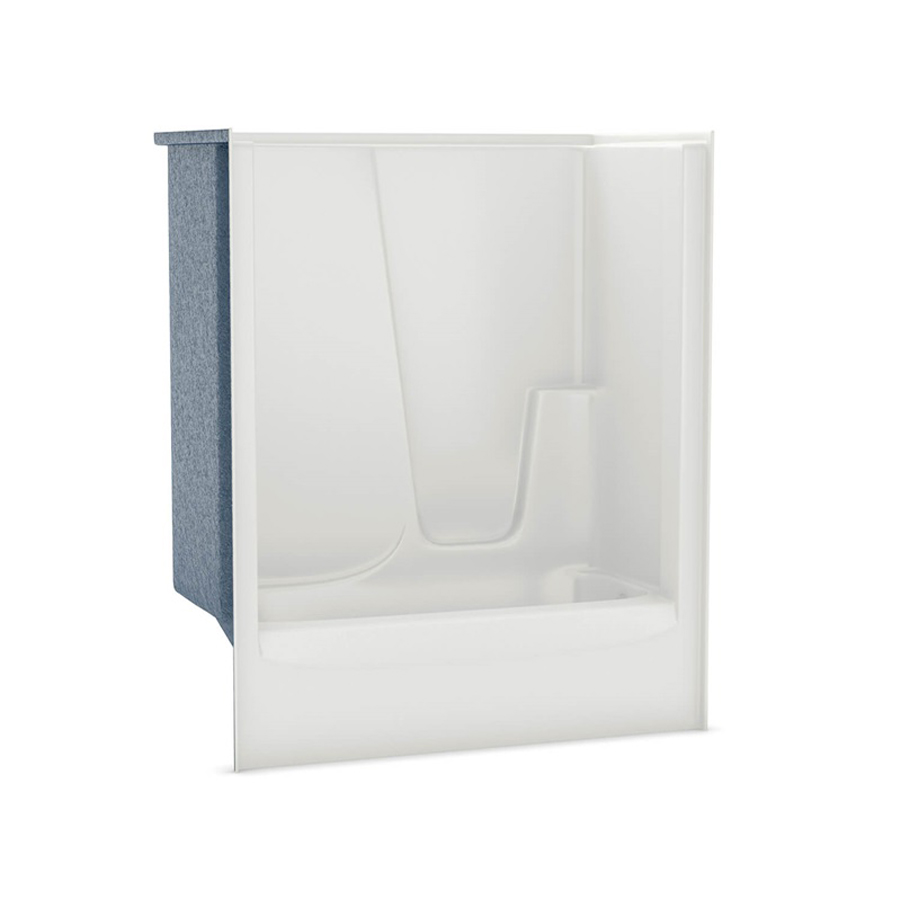 Right Hand Drain White Above Floor Rough Soaking Tub & Shower
