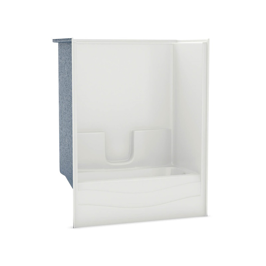 Right Hand Drain White Soaking Tub & Shower