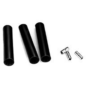 4-Wire Wall Ring Wedge Lock Heat Shrunk Kit in Black