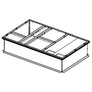 "American Standard Heating & Air Conditioning 42"" x 14"" Galvanized Curb Box 99922"