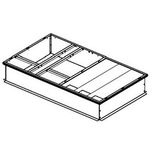 "American Standard Heating & Air Conditioning 43"" x 14"" Galvanized Curb Box 212550"