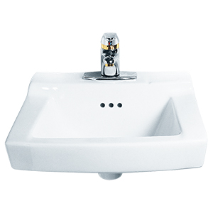 "Comrade White Wall Mounted 4"" Centers Lavatory Sink"